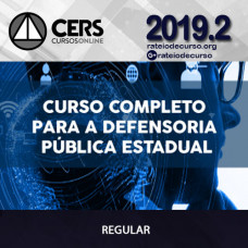 Defensoria Pública Estadual 2019.2 - CERS
