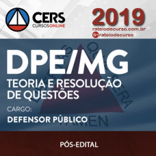 DPE/MG - Defensor Público - Cers 2019