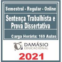 Sentença Trabalhista e Prova Dissertativa 2021