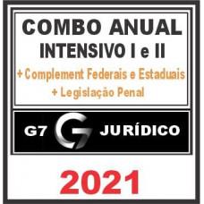 COMBO ANUAL (INTENSIVO I + INTENSIVO II) + COMPLEMENTARES FEDERAIS E ESTADUAIS - 2021