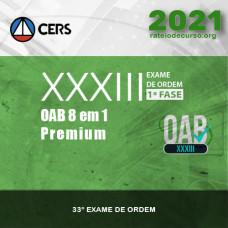 OAB 1ª FASE XXXIII (33) EXAME DE ORDEM - 8 em 1 CERS