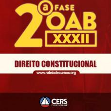 OAB 2ª FASE XXXII (32º EXAME) DIREITO CONSTITUCIONAL - CERS