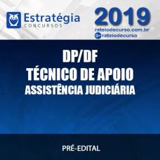 DP/DF - TÉCNICO DE APOIO À ASSISTÊNCIA JUDICIÁRIA 2019 - Estratégia
