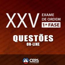 OAB XXV 1ª FASE - RESOLUÇÃO DE QUESTÕES OBJETIVAS E INTERDISCIPLINARES