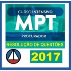 MPT INTENSIVO 2017 (Procurador) Ministério Público do Trabalho