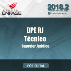 DPE RJ - Técnico Superior Jurídico - Reta Final - Ênfase - 2018