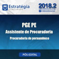 PGE PE - Assistente de Procuradoria - Pós Edital - Estratégia 2018