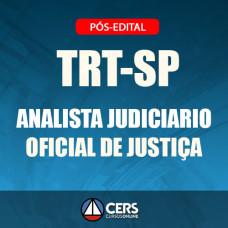 TRT-SP Pós Edital 2018 - ANALISTA JUDICIÁRIO OFICIAL DE JUSTIÇA AV FEDERAL- TRT 2 - CERS