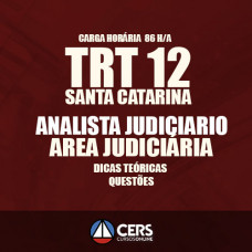 TRT SC SANTA CATARINA – ANALISTA JUDICIÁRIO 2017 TRT 12