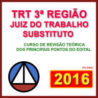 JUIZ DO TRABALHO SUBSTITUTO DO TRT/3ª REGIÃO