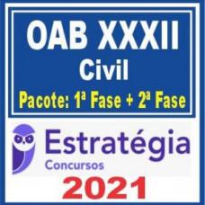 OAB XXXII Civil (Pacote 1ª fase + Curso de 2ª fase) 2021 - (E)