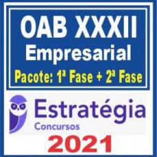 OAB XXXII Empresarial (Pacote 1ª fase + Curso de 2ª fase) 2021 - (E)