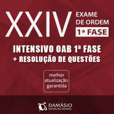 OAB XXIV 1ª FASE - INTENSIVO TEÓRICO + QUESTÕES  2017 - DAMÁSIO