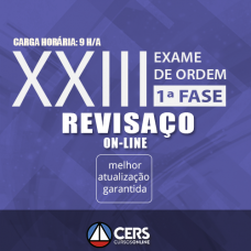 Revisaço Online – OAB  Primeira Fase XXIII Exame - 1ª  Fase